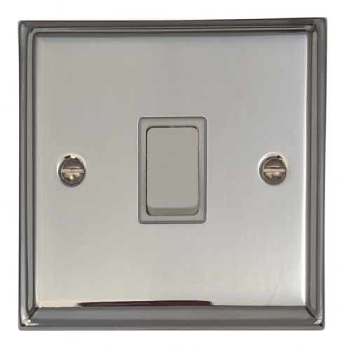 G&H DC1W Deco Plate Polished Chrome 1 Gang 1 or 2 Way Rocker Light Switch